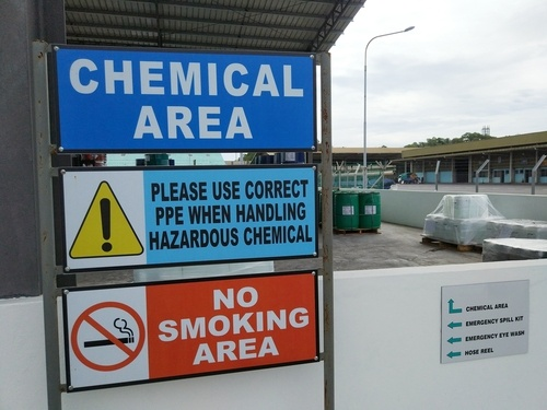 chemical area signs