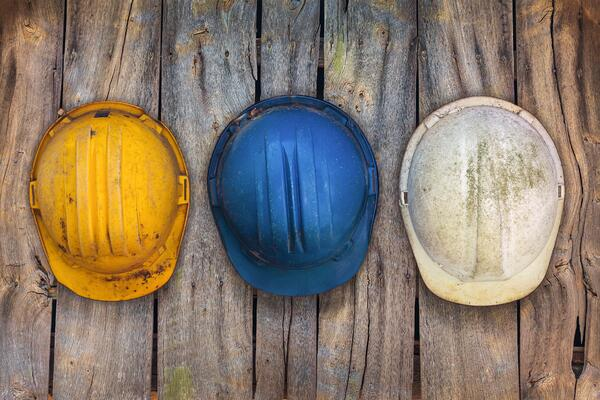 dirty hard hats