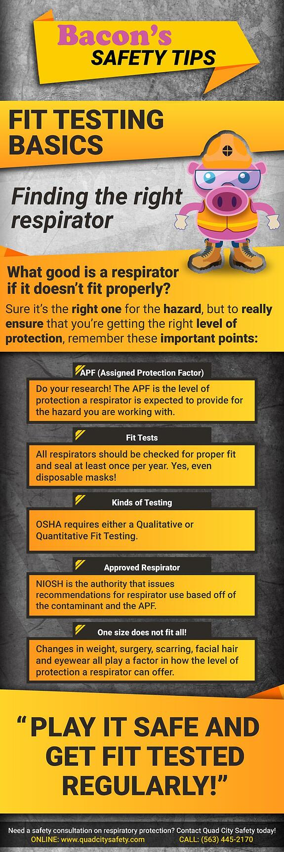Bacon's Safety Tips Fit Testing Basics. Finding the right respirator.