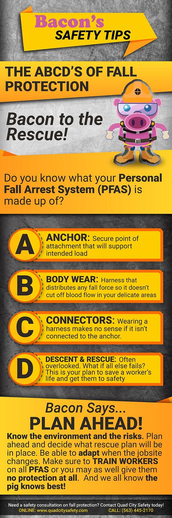 Bacon's Safety Tips The ABCD's of Fall Protection