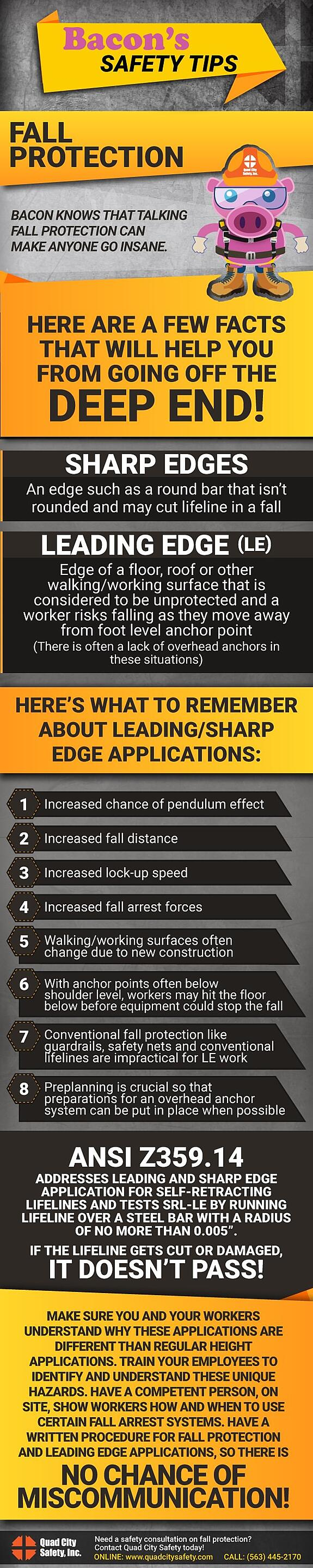 Bacon's Safety Tips Fall protection.