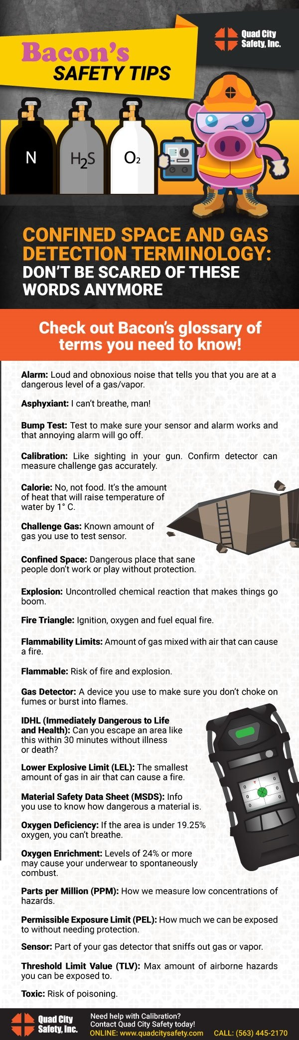 Bacon's Safety Tips Confined Space and Gas Detection Terminology: Don't be scared of these words anymore.