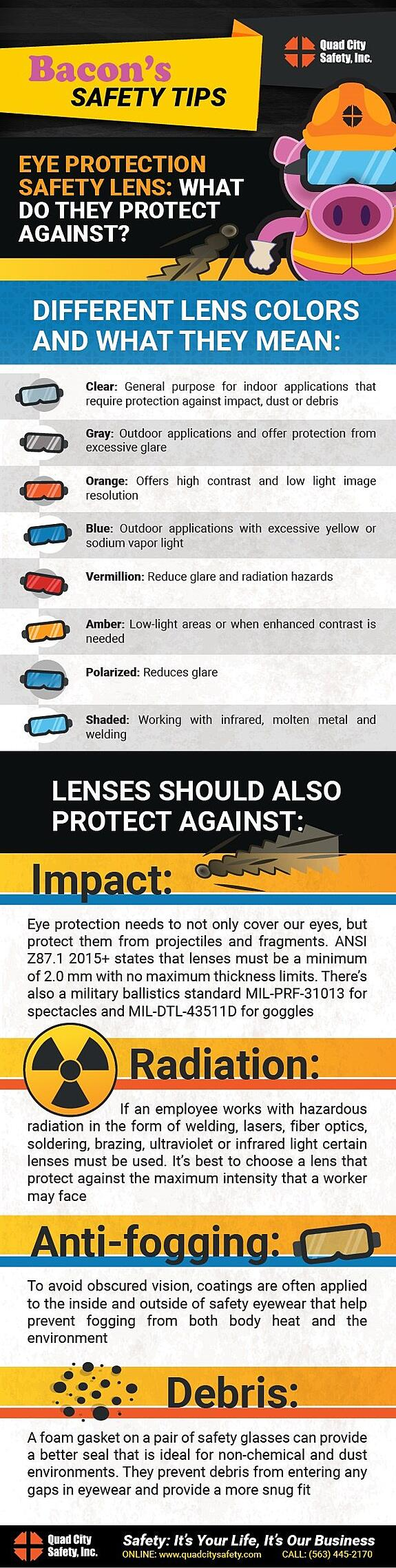 Quad City Safety Eye protection lens Safety