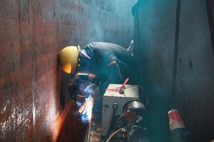 Workers in a confined space