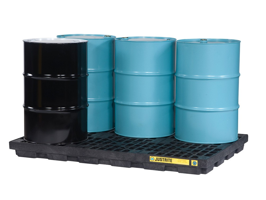 storage drums on spill pallet