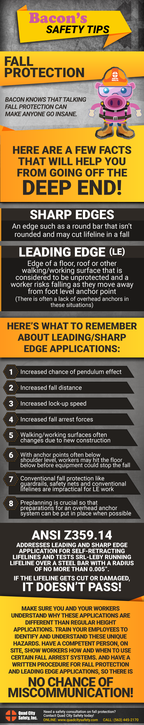 Bacon's Safety Tip: Facts about Leading Edge Applications